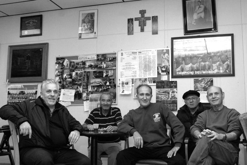The Van Westerhout Cittadini Molesi Social Club. President Allegrino Sale, middle, owner of Good Food grocery.