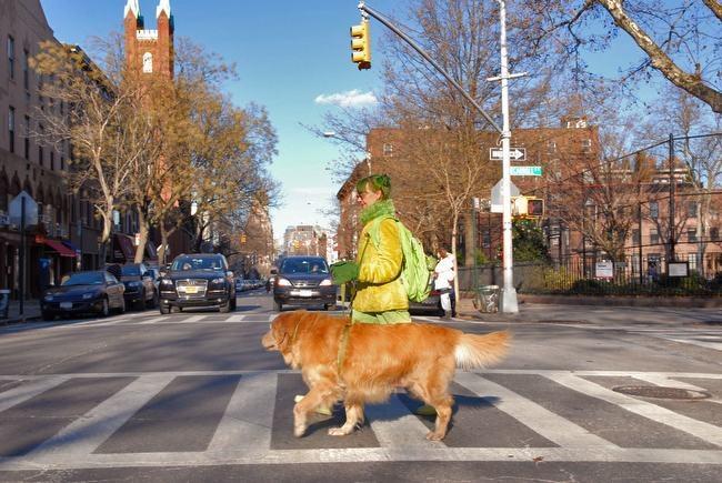 Green Lady Walking